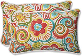 Pillow Perfect 569062 Outdoor Bronwood Carnival Rectangular Throw Pillow, 11.5 x 18.5, Multicolored