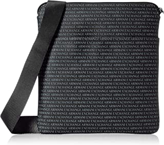 A|X Armani Exchange All Over Logo Print Satchel