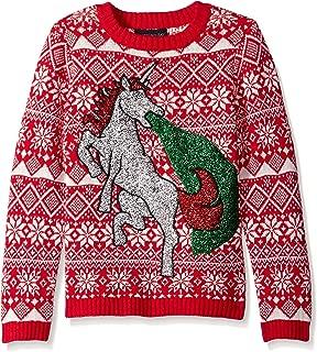 Boys' Glitter Vomit Unicorn Sweater