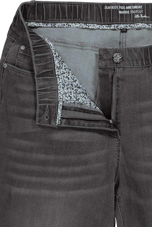 Ulla Popken Damen Bootcut Jeans
