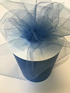 Tulle Fabric Spool/Roll 6 inch x 100 yards (300 feet), 34 Colors Available, On Sale Now! (smoke blue)