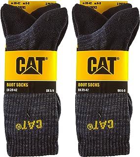 Caterpillar, Boot Socks 6 pares de calcetines de algodón elástico, puntera y talón reforzados, adecuados para botas