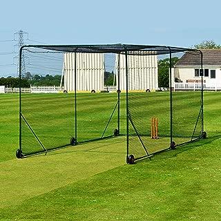 Fortress Mobile Baseball Batting Cage [24ft x 10ft x 10ft] – Portable Wheel-Based Hitting Net