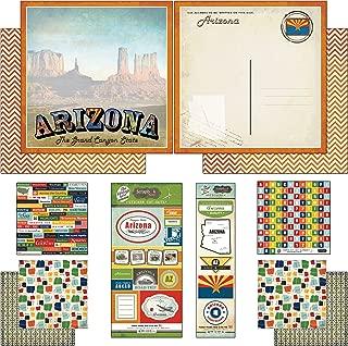 Scrapbook Customs Themed Paper and Stickers Scrapbook Kit, Arizona Vintage