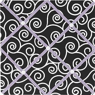 Sweet JoJo Designs Purple and Black Kaylee Fabric Memory/Memo Photo Bulletin Board