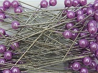 Blumen Senf Perkopf Decon Lot de 150 épingles à perles Violet 4 mm Ø x 40 mm