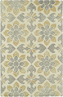 Kaleen Rugs Montage Collection MTG02-01 Ivory Hand Tufted 8' x 10' Rug