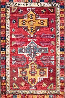 nuLOOM Dakota Tribal Alfombra de área de Lana, 7 pies 6 Pulgadas x 9 pies, Multi