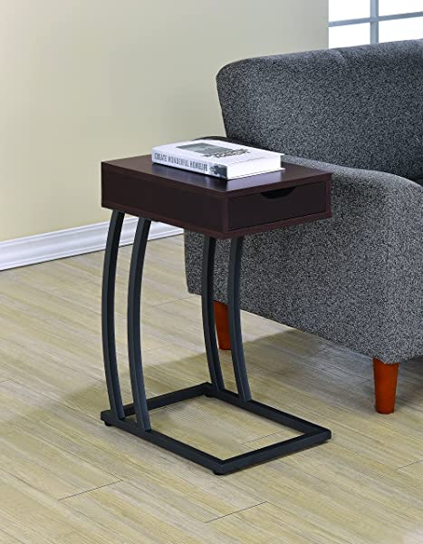 Coaster Industrial Accent Table With Storage Drawer And Outlet Cappuccino