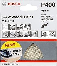 Bosch Professional 5 Stuks Deltaschuurvel M480 Best for Wood and Paint (hout en verf, korrelgrootte P400, accessoire delta...