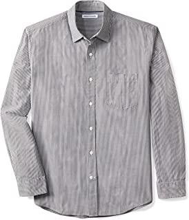 yxr Mens Slim Check Printed Casual Long Sleeve Shirt Base Shirt Shirt
