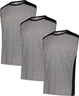 X-PRO Men's Dry-FIT Active Athletic Moisture Wicking Performance Crew Neck T-Shirts [3-Pack]