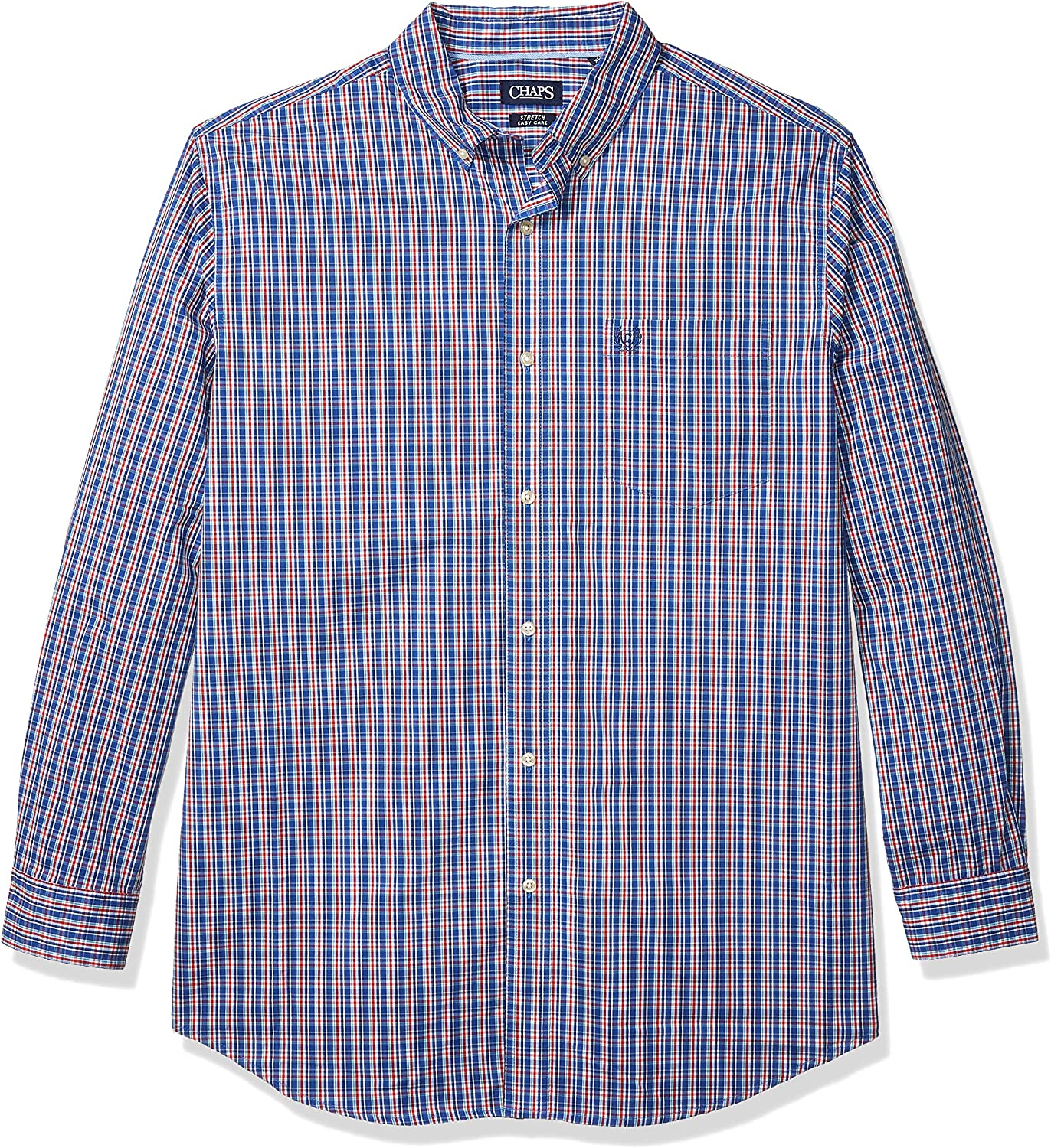 Chaps Men's Big and Tall Classic Fit Long Sleeve Stretch Easy Care Shirt