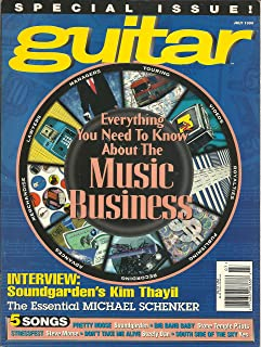Guitar Magazine July 1996 Everything You Need to Know About the Music Business, Soundgardes Kim Thayil, 5 Songs: Pretty Noose Soundgarded, Big Bang Baby Stone Temple Pilots, Stressfest Steve Morse, Don't Take Me Alive Steely Dan, Yes and More