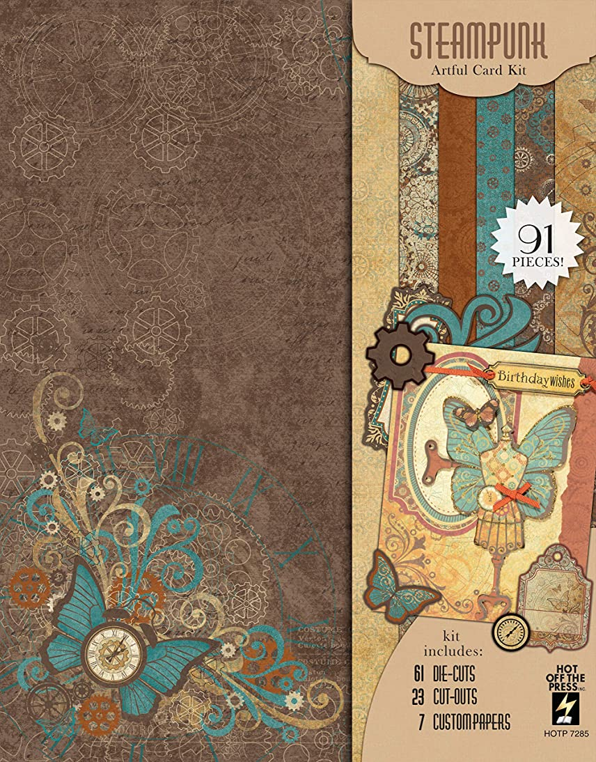 Artful Card Kits by Hot Off The Press | Coordinated Collections for Scrapbooking, Card Making and Gifts - Inspiration at Your Finger Tips (Steampunk Artful Card Kit)