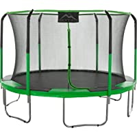 Skytric 11' Round Trampoline with Jumping Skate (Green)