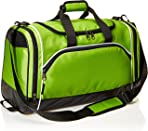 AmazonBasics Sports Duffel - Small, Hyper Green