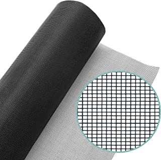 Lazy Dog Warehouse Window Screen Mesh Roll 48in x 100ft – Fiberglass Screen Replacement Mesh for DIY Projects - Black Mesh