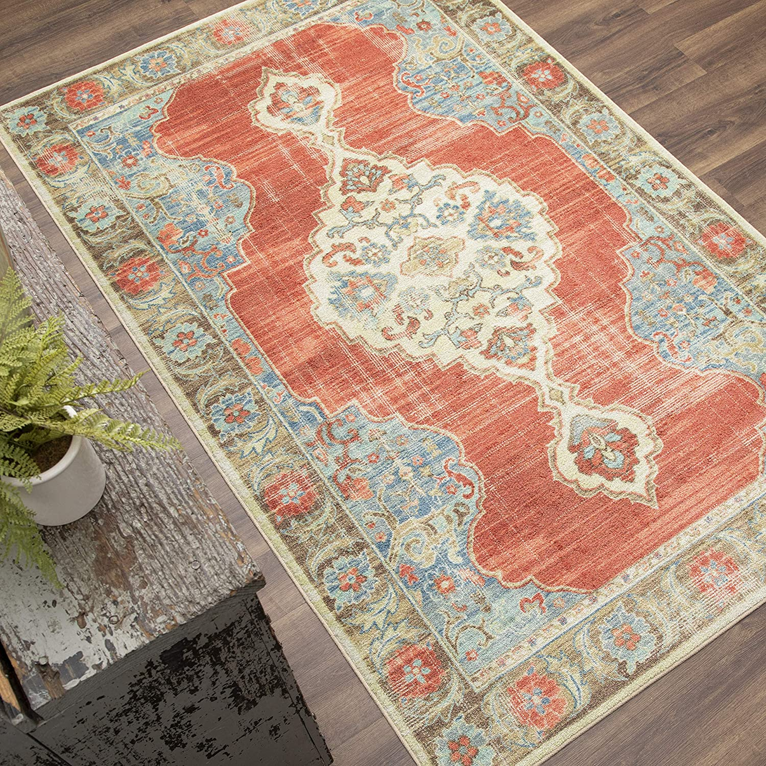 Mohawk Home Mismere Red (4' X 6') Ornamental Area Rug