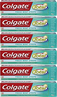 Colgate Total Fresh Mint Stripe Gel Toothpaste - 6 ounce (6 Pack)