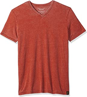 Lucky Brand Men's Venice Burnout V Neck Tee