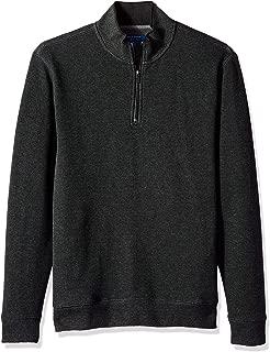 Men's Birdseye 1/4 Zip Knit Sweater