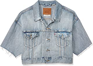 Levi's Women's Short Sleeve Cropped Trucker Jacket Jacket