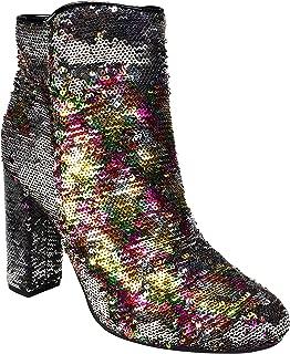 multi colored sequin heels