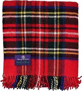 pure wool tartan fabric