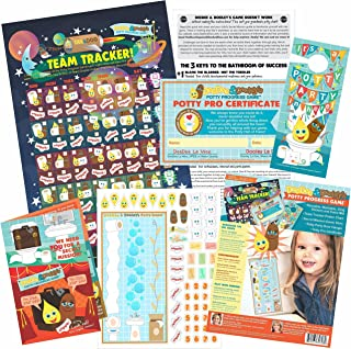 DeeDee & Dooley Potty Progress: Potty training fun with reusable cling sticker game, chart, certificate and more