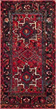 "Safavieh Vintage Hamadan Collection VTH211A Antiqued Oriental Red and Multi Area Rug (2'7"" x 5')"