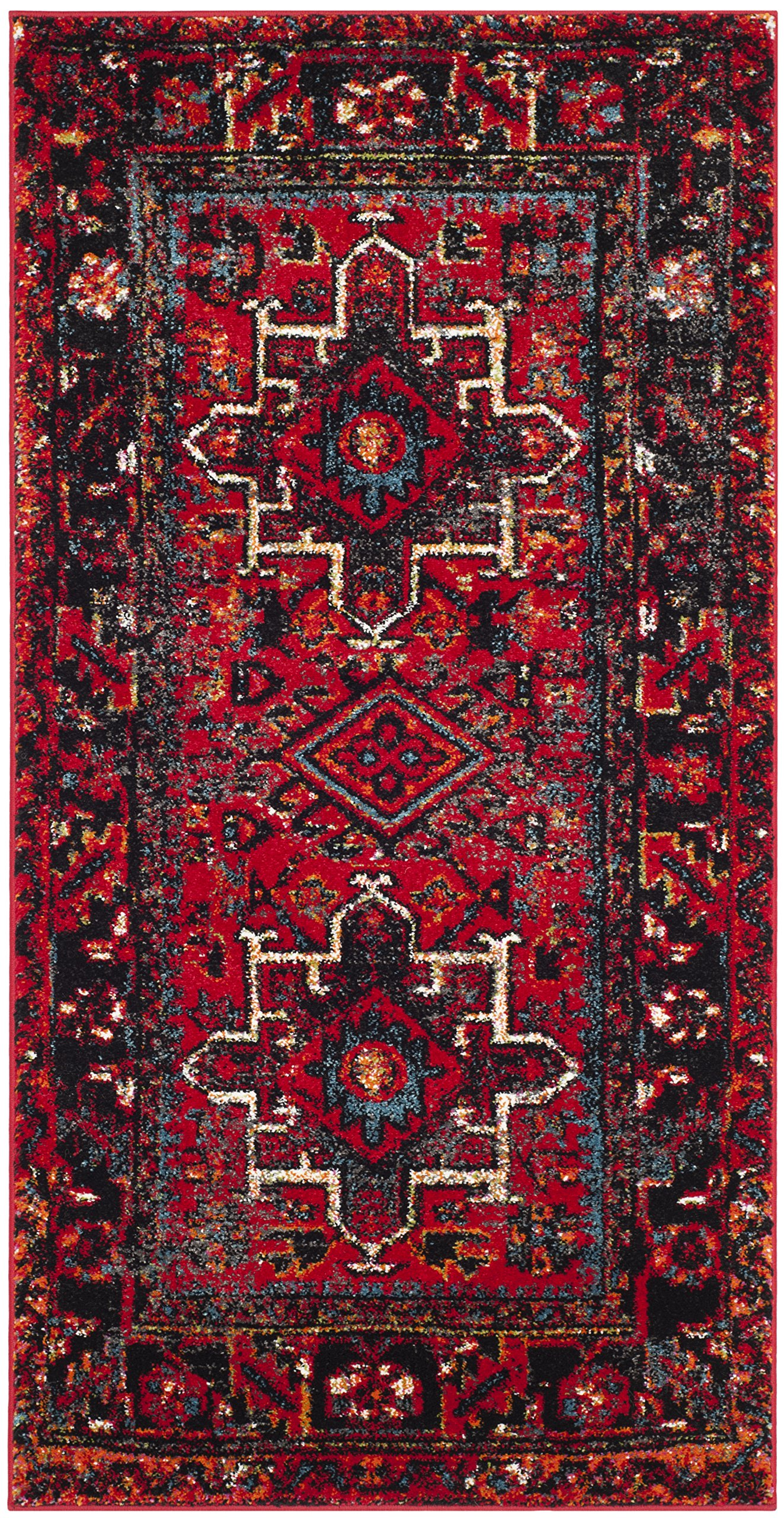 Safavieh Vintage Hamadan Collection Vth211a Oriental Traditional Persian Non Shedding Stain Resistant Living Room Bedroom Area Rug 2 7 X 5 Red Multi Furniture Decor