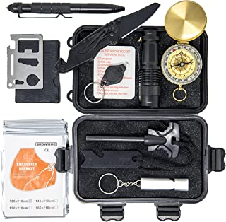 Premium Survival Kit – Survival Gear for Camping, Hiking, Hunting, Vehicles | Over 30 USES | Limited Overstock MARKDOWN Price