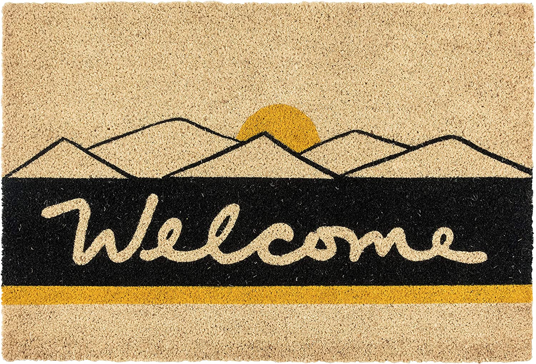 Kosas Home Rocky Mountain Hi Black 36x24 Coir Doormat Fiber San Diego Translated Mall