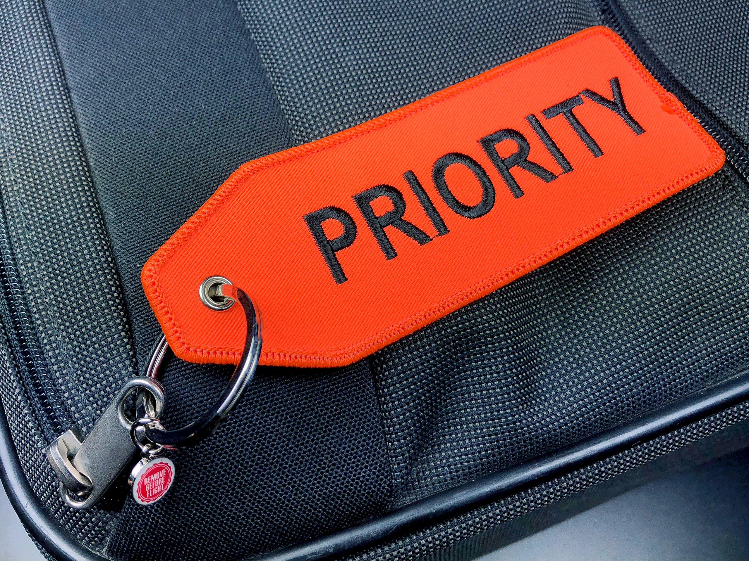 Malet/ín colgante/ /Priority/ /Neon de Color Naranja