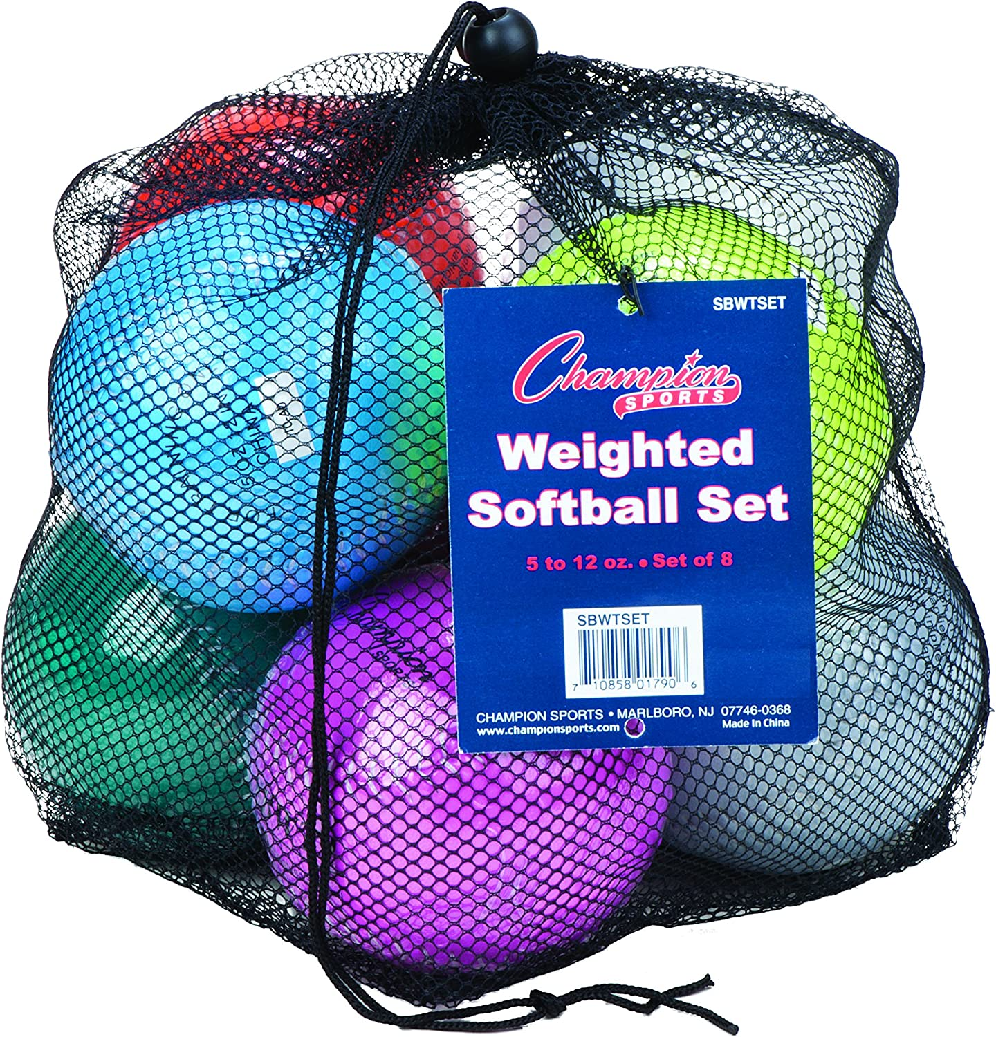 Champion Sports Attention brand Weighted Training Portland Mall Softball with Carryi Nylon Set