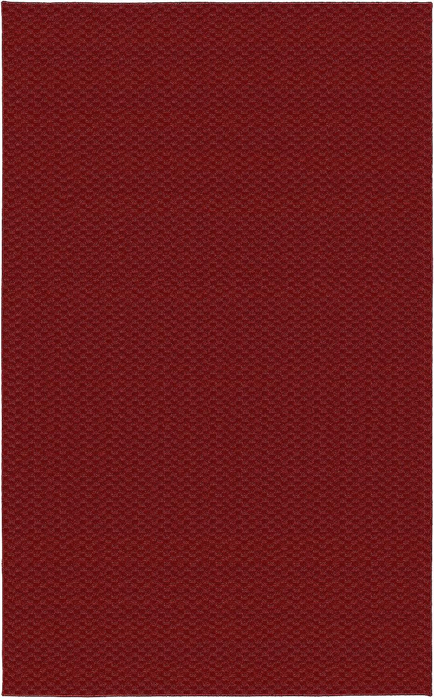 Garland Rug Medallion Area Rug, 7-Feet 6-Inch by 9-Feet 6-Inch, Chili Pepper Red