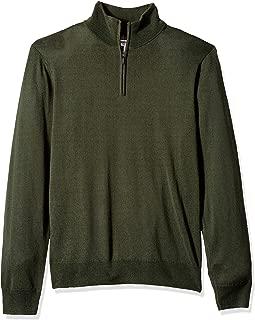 Amazon Brand - Goodthreads Men's Lightweight Merino Wool Quarter Zip Sweater