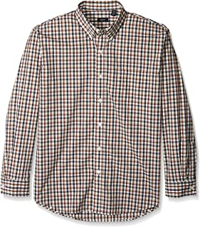 Men's Hamilton Poplins Long Sleeve Button Down Plaid Shirt
