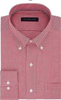 Tommy Hilfiger Men's Non Iron Regular Fit Gingham Buttondown Collar Dress Shirt