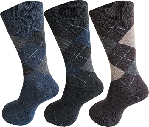 RC. ROYAL CLASS Men's Wool & Spandex Socks (Pack of 3) (RC-TOUGH3-3PAIRS_Multicolored_Free Size)