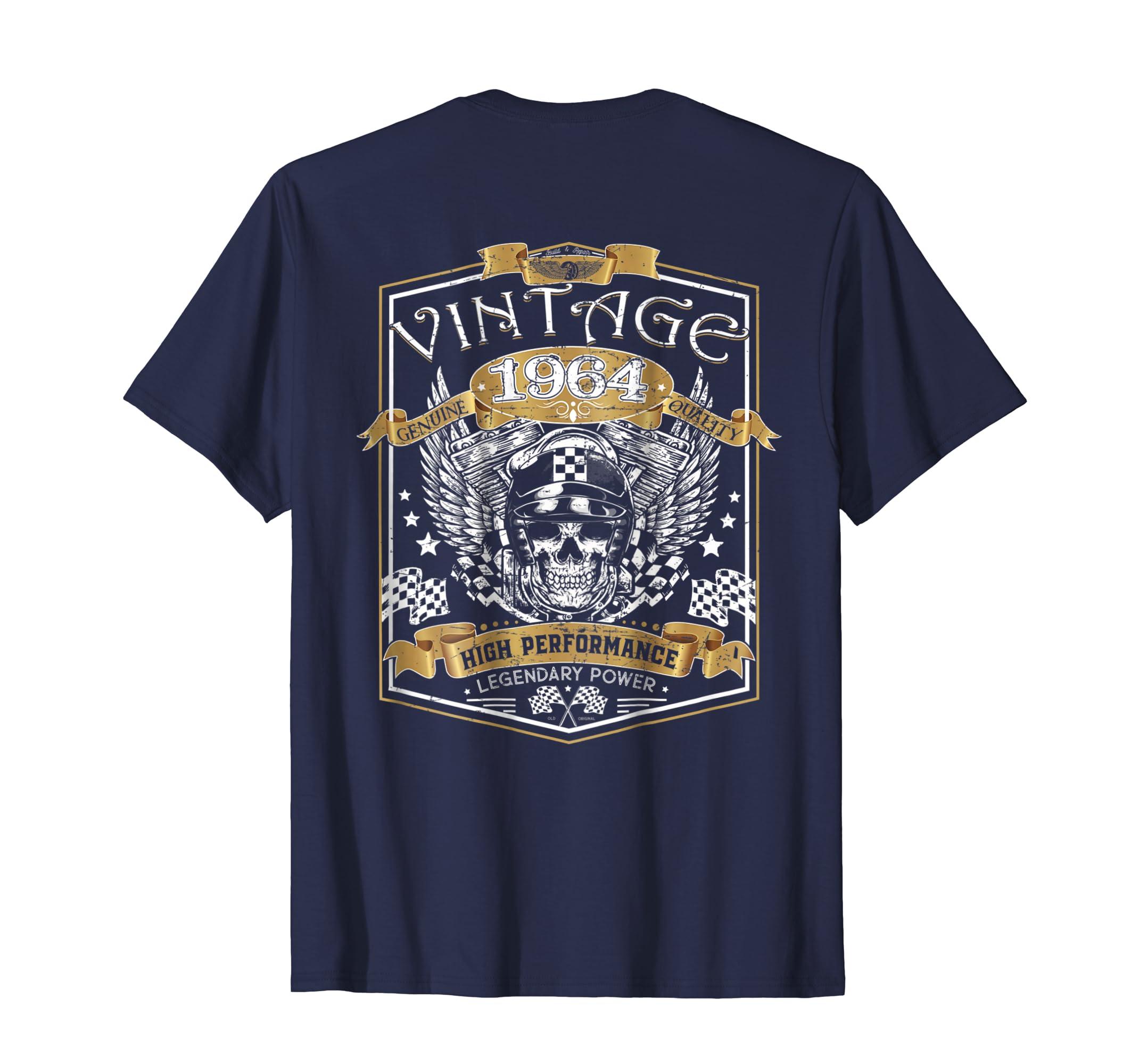 (Print on back) Classic 54th birthday Vintage 1964 tshirt-ln