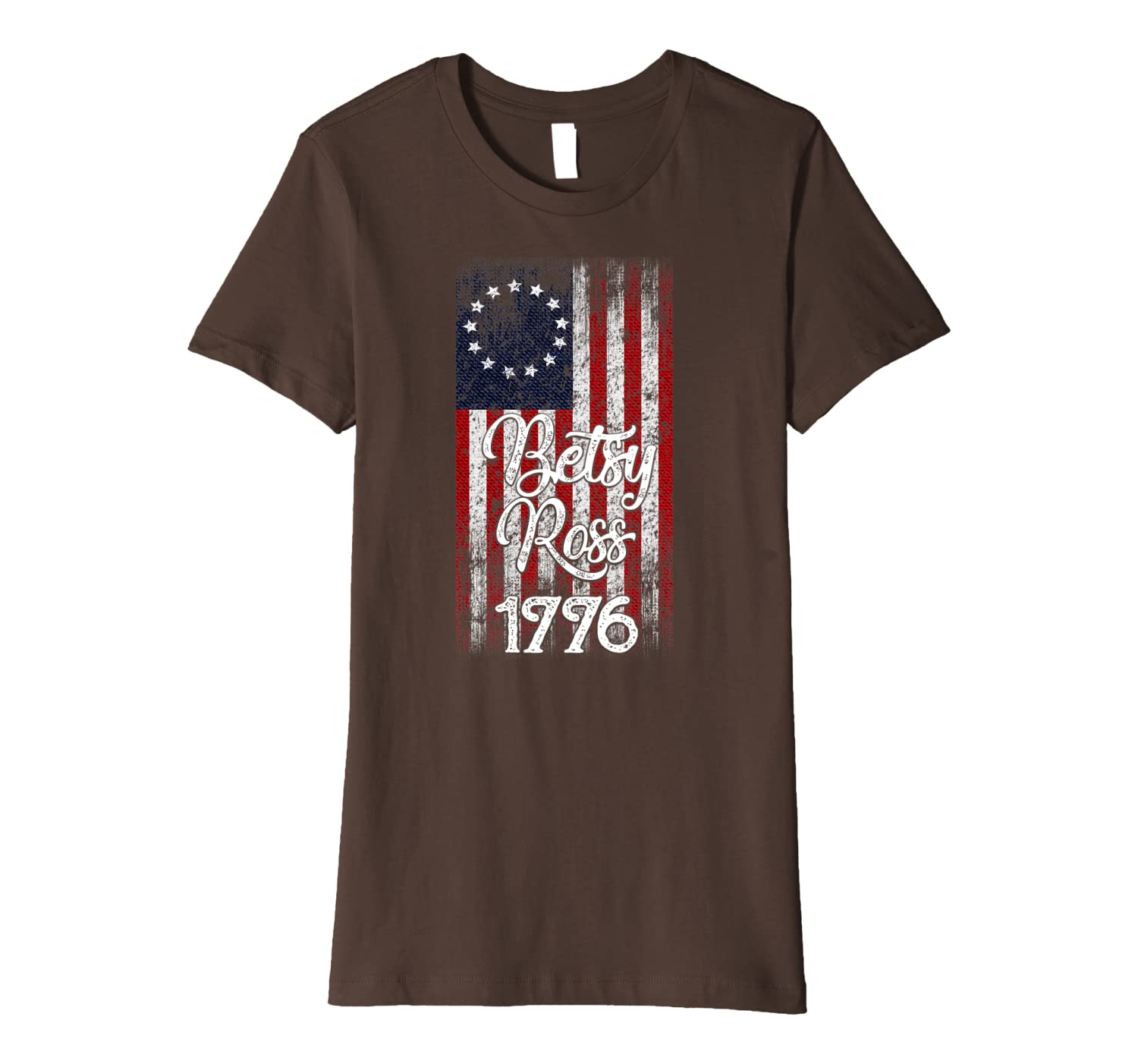 13 Colonies Betsy Ross First us Flag USA American Vintage Premium T-Shirt