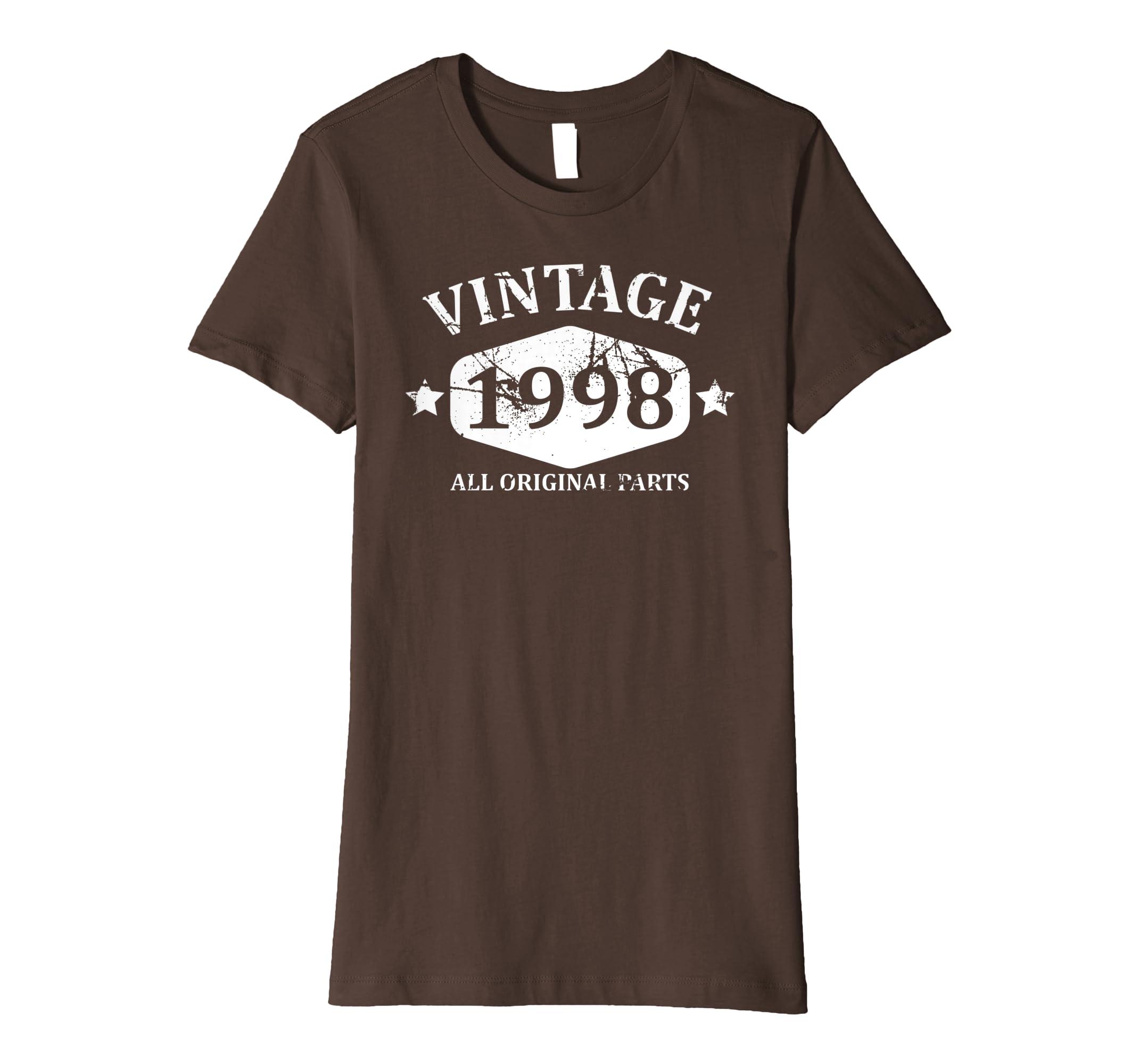Amazon Funny Vintage 1998 21st Birthday Gift T Shirt Best Emoji Tee Clothing