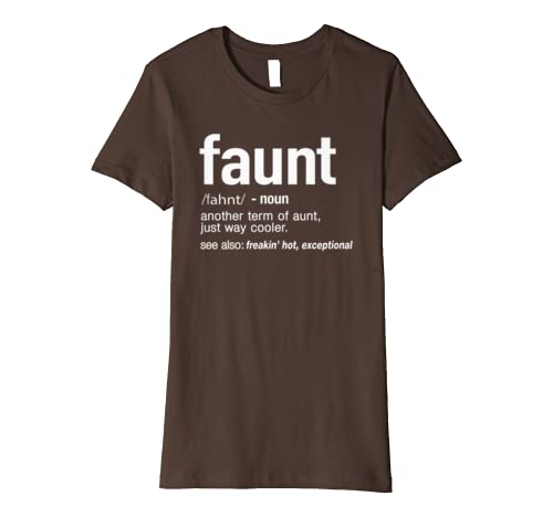 c063b44a7 FAUNT Definition Aunt Funny T-Shirt: Amazon.co.uk: Clothing