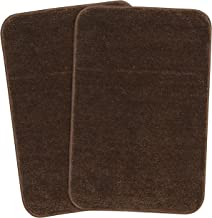 Saral Home Soft Microfiber Brown Small Anti Slip Bathmat Set of 2, 35X50cm