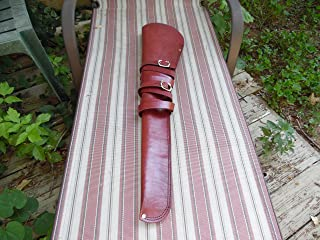 Bull Creek Leather Wine Color Smooth Leather Rifle/Shotgun Scabbard