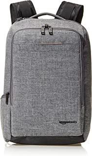 AmazonBasics Slim Carry On Backpack, Grey