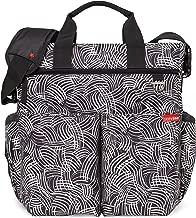 Skip Hop Skip Hop Messenger Diaper Bag With Matching Changing Pad, Duo Signature, Black Swirl