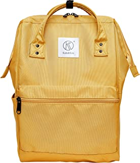 Kah&Kee Polyester Travel Backpack Functional Anti-theft School Laptop for Women Men (Yellow, Large)